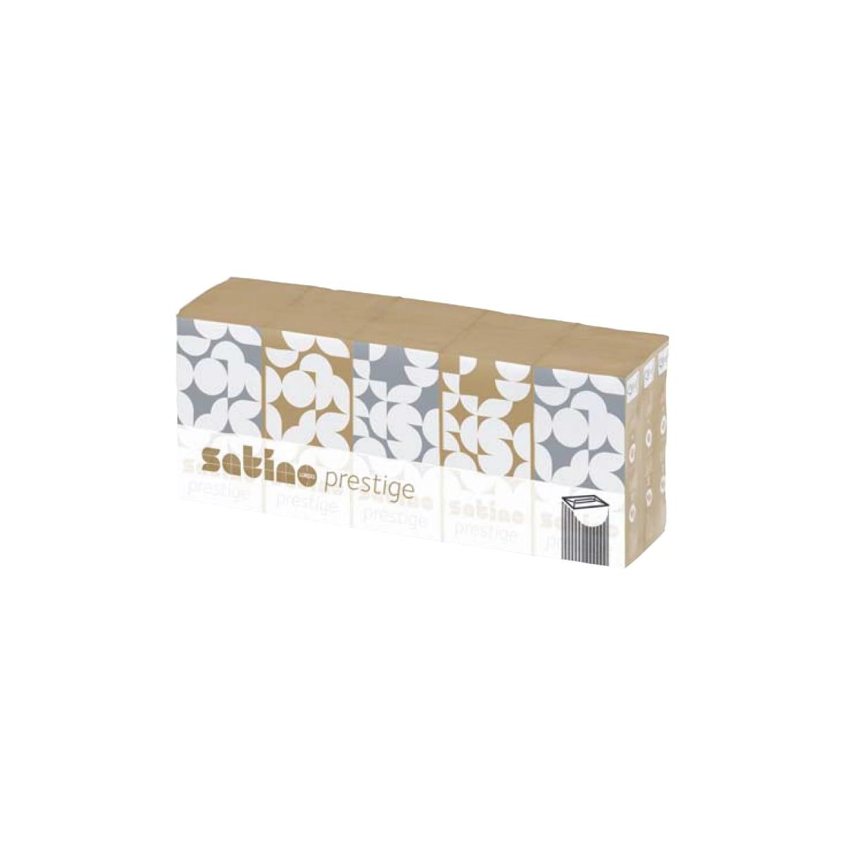 TTC Džepne kozmetičke maramice, Satino Prestige, 100% celuloza, 4 sloja, 21x21cm, Pakovanje: 15×10 maramica