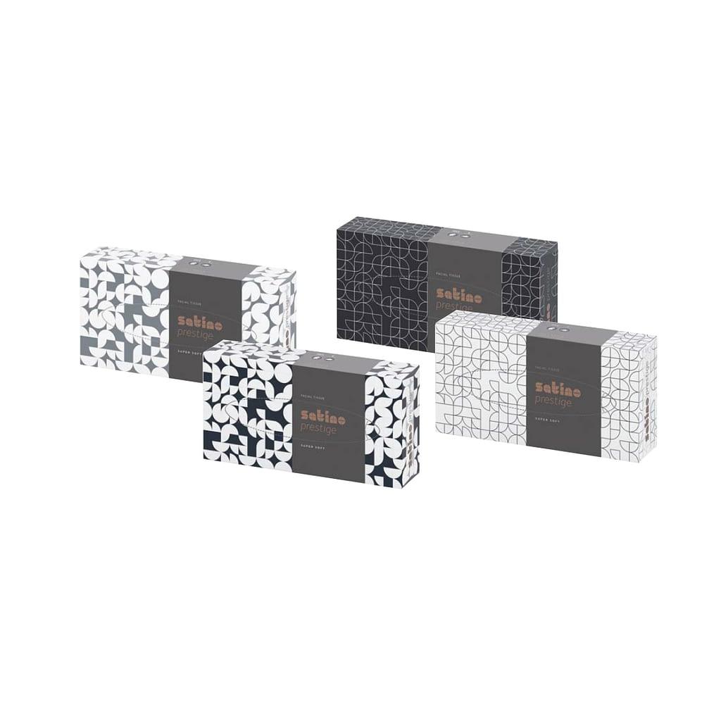 TTC Kozmetičke maramice u kutiji FLACHBOXEN, Satino Prestige, 100% celuloza, 2 sloja, 21x20.5cm. Pakovanje: 100 maramica