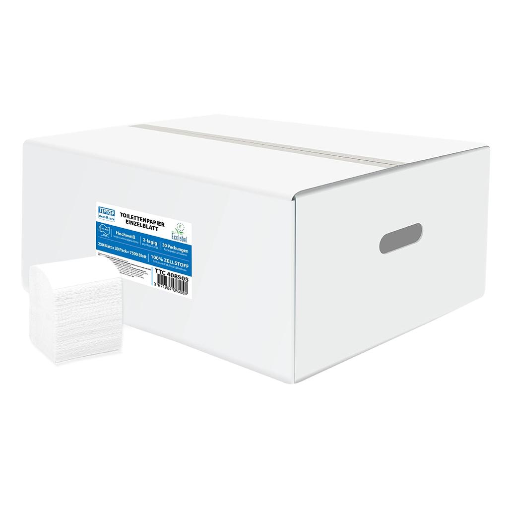 TTC Toaletni papir u listićima, 11x22cm, 100% celuloza, 40x225. EU Ecolabel sertifikat