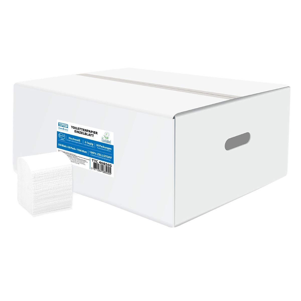 TTC Toaletni papir u listićima, 11x22cm, 100% celuloza, 40×225. EU Ecolabel sertifikat