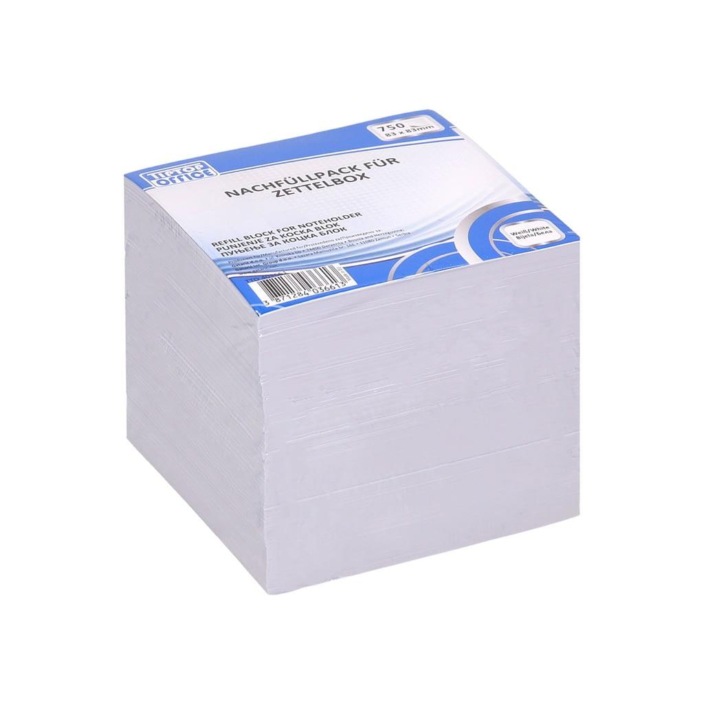 TTO Blok kocka 83x83mm, 750 lista. Boja: bijela