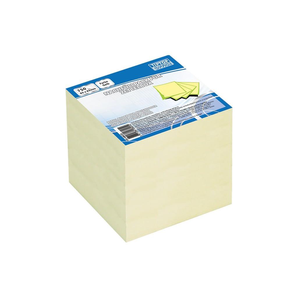 TTO Blok kocka 83x83, 750 lista. Boja: pastelno žuta