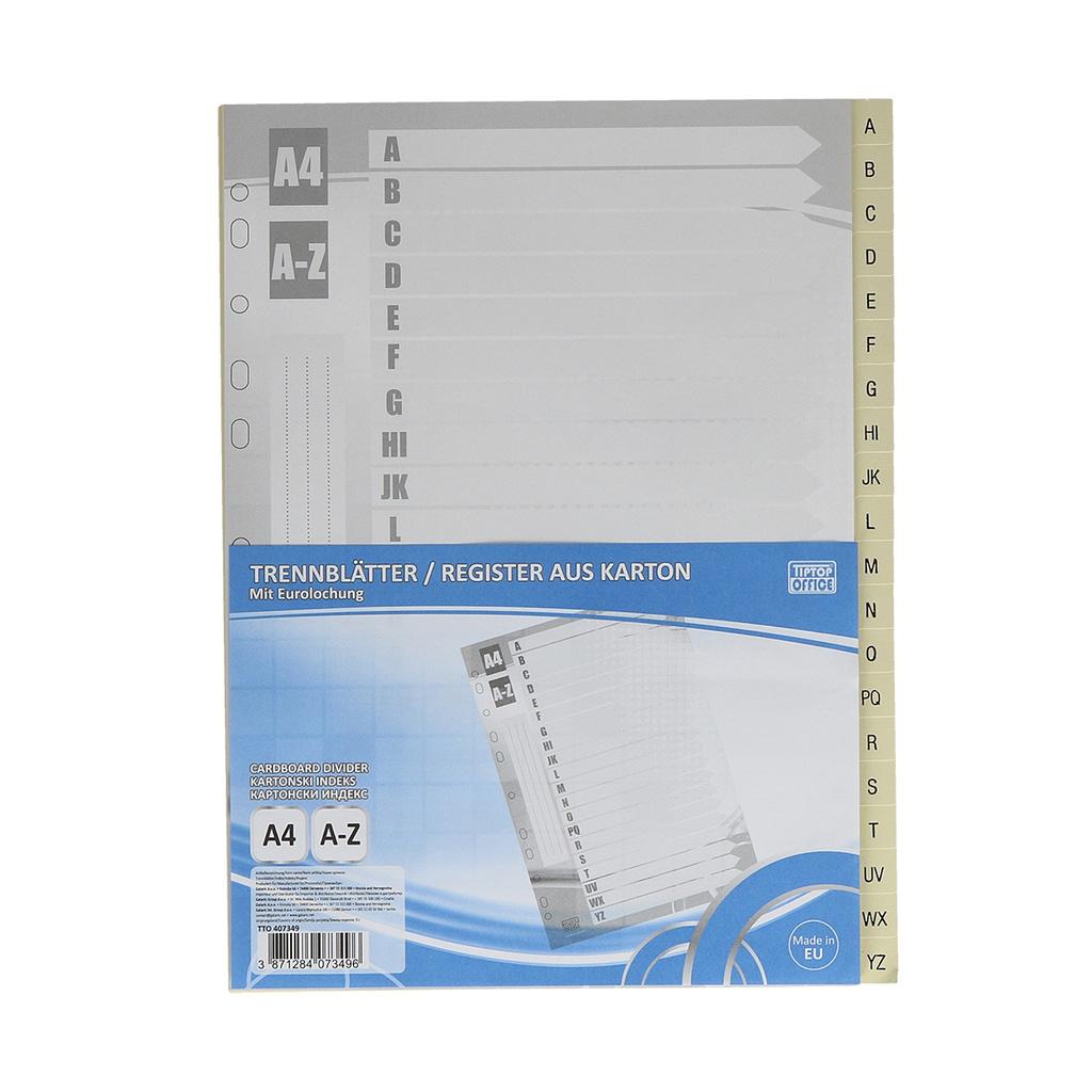 "TTO Separator ""A-Z"" A4 karton, 227x297mm, bijeli"