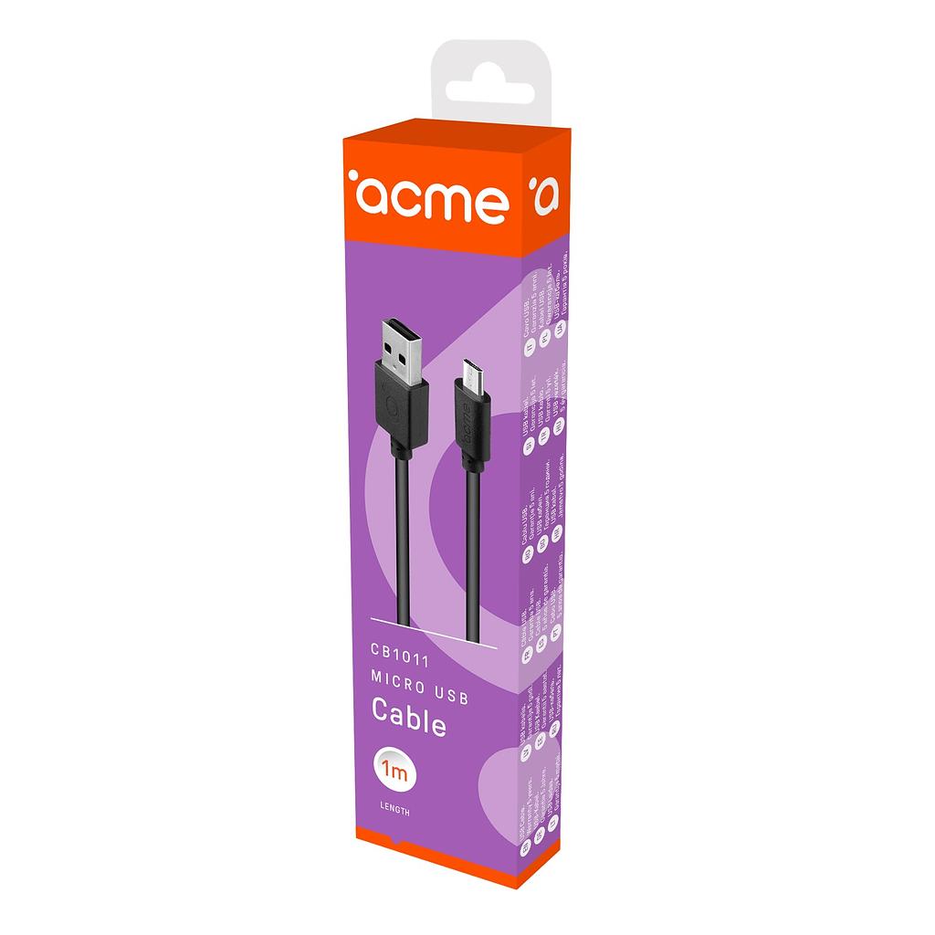 ACME Micro USB kabl CB1011, 1 metar. Boja: bijela
