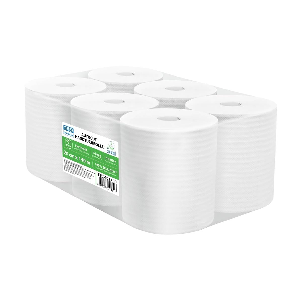 TTC Ubrus za ruke (za senzorske uređaje), 2 sloja, 100% celuloza, 6x140m. EU Ecolabel sertifikat