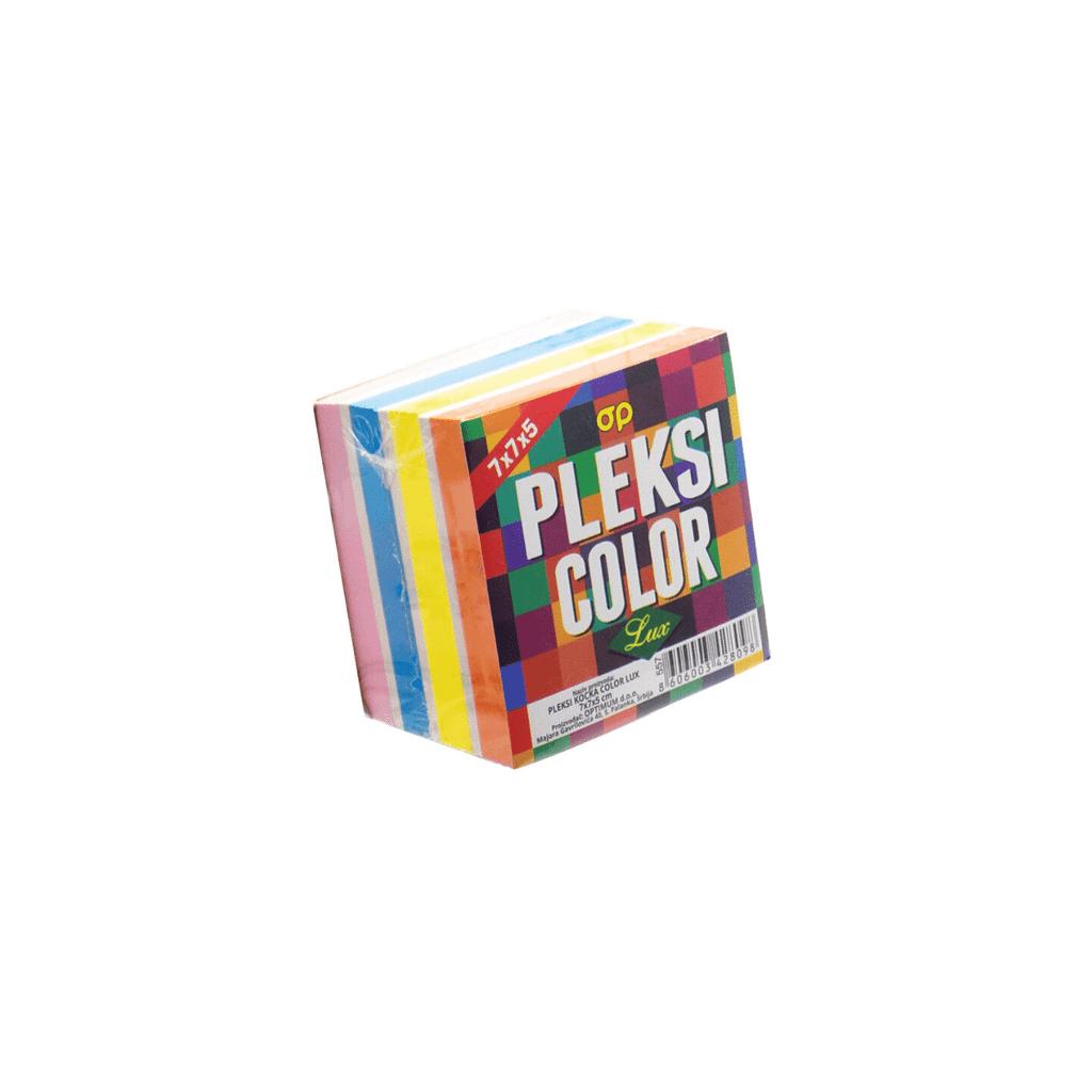 OP Pleksi kocka 70x70mm, mix boja, neljepljiva