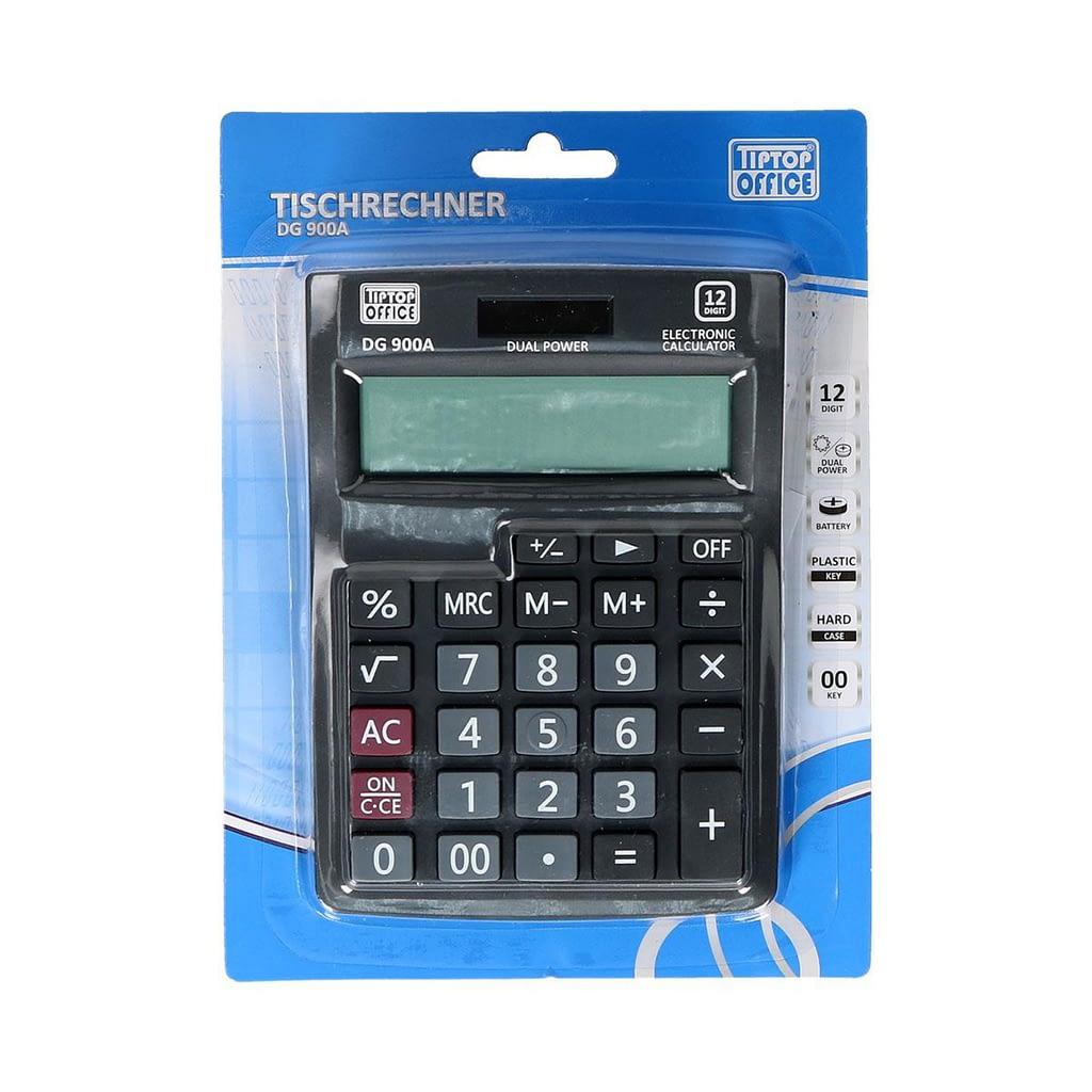 TTO Kalkulator DG-900A, Dual power, 12 cifara. Boja: crna