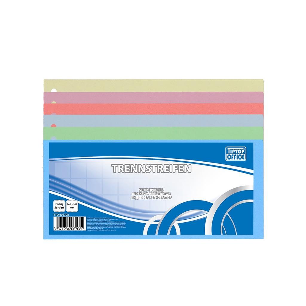 TTO Pregradni karton 235x105mm mix boja, 100/1