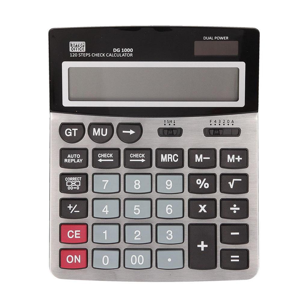 TTO Kalkulator DG 1000, Dual power, 12 Cifara. Boja: crna/siva