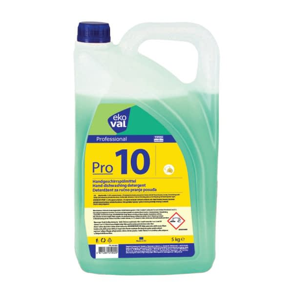 TTC ekoVAL Pro 10 Professional Deterdžent za ručno pranje posuđa. 5 kg