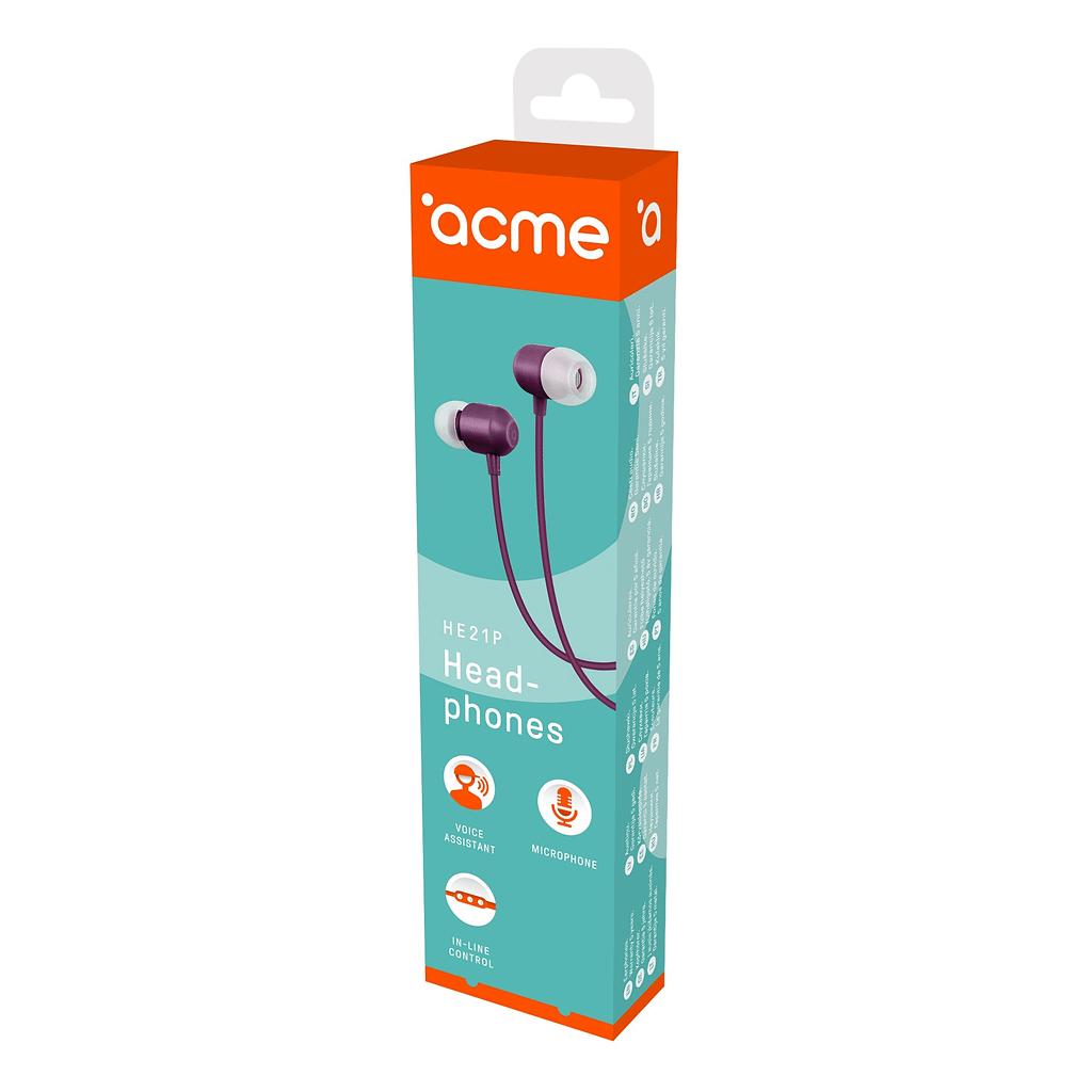 ACME Slušalice/bubice HE21P. Boja: ljubičasta