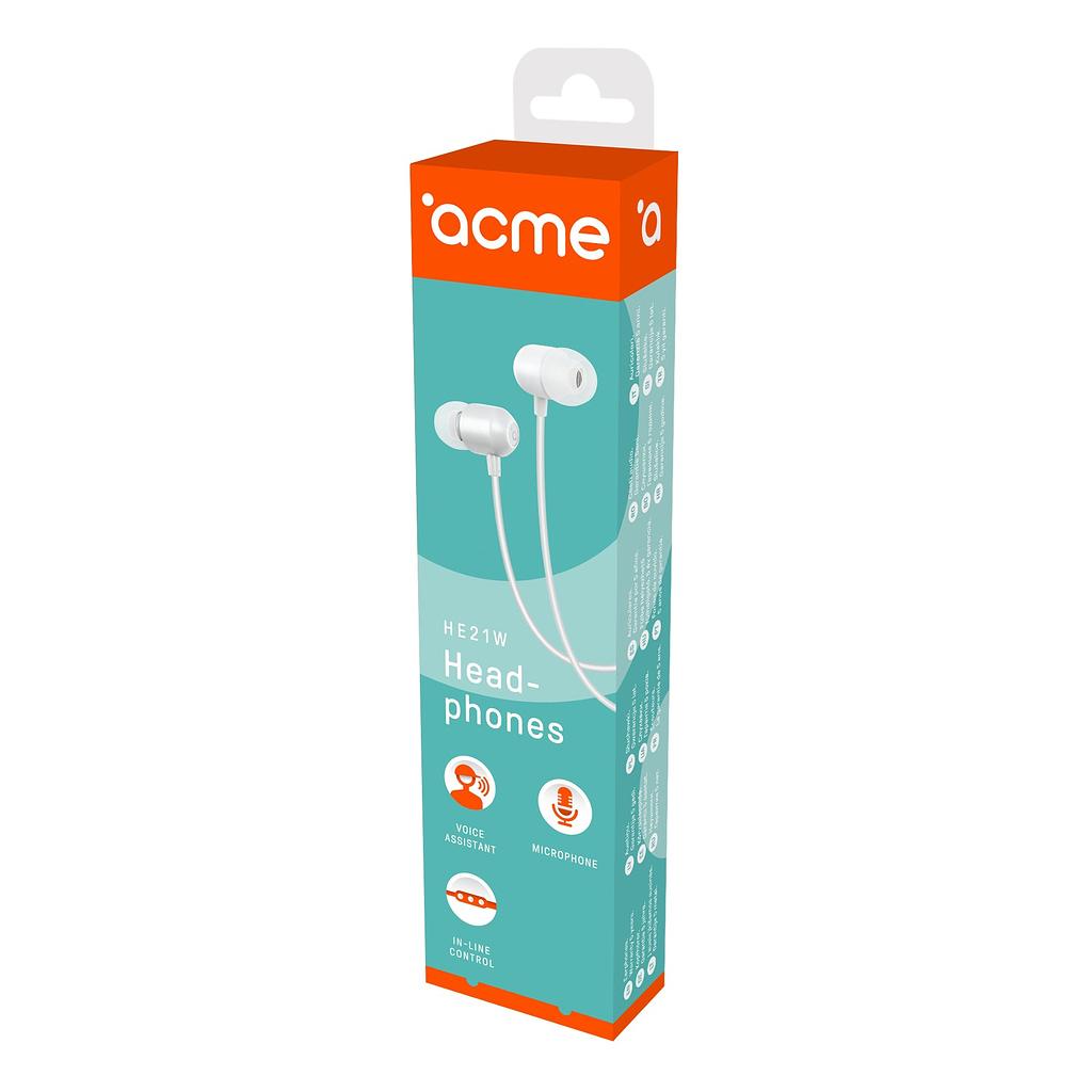 ACME Slušalice/bubice HE21W. Boja: bijela