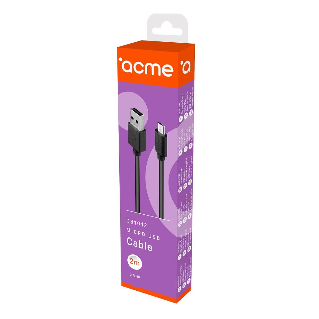 ACME Micro USB kabl CB1012, 2 metra. Boja: crna