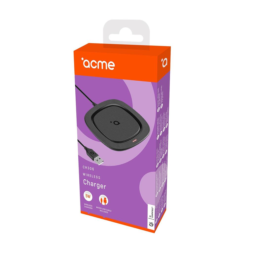 ACME Wireless/Bežični punjač CH306, 5W, Micro USB kabl, Qi bežično punjenje