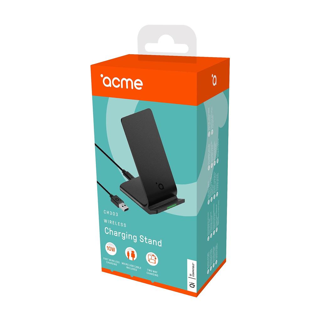 ACME Wireless/Bežični punjač / Uspravni CH303, 10W, Micro USB kabl, Qi bežično punjenje