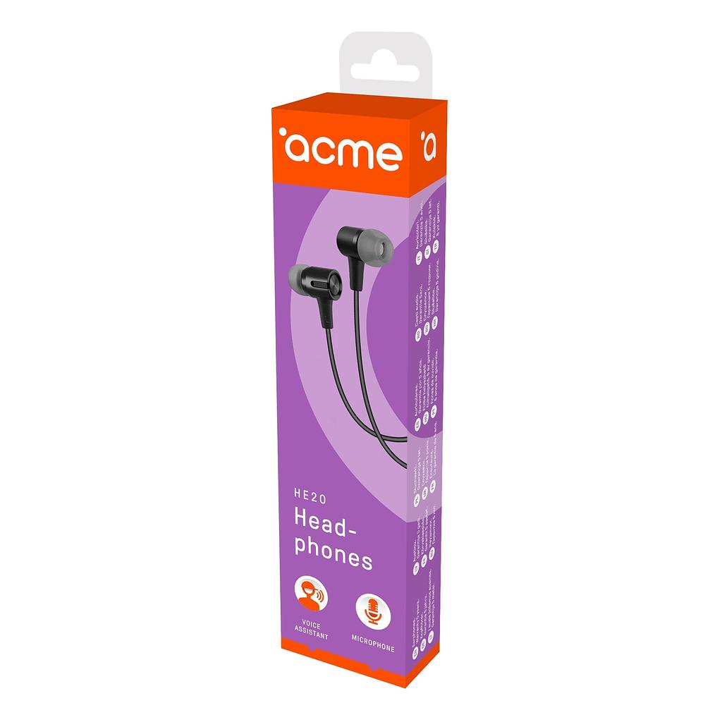 ACME Slušalice/bubice HE20. Boja: crna