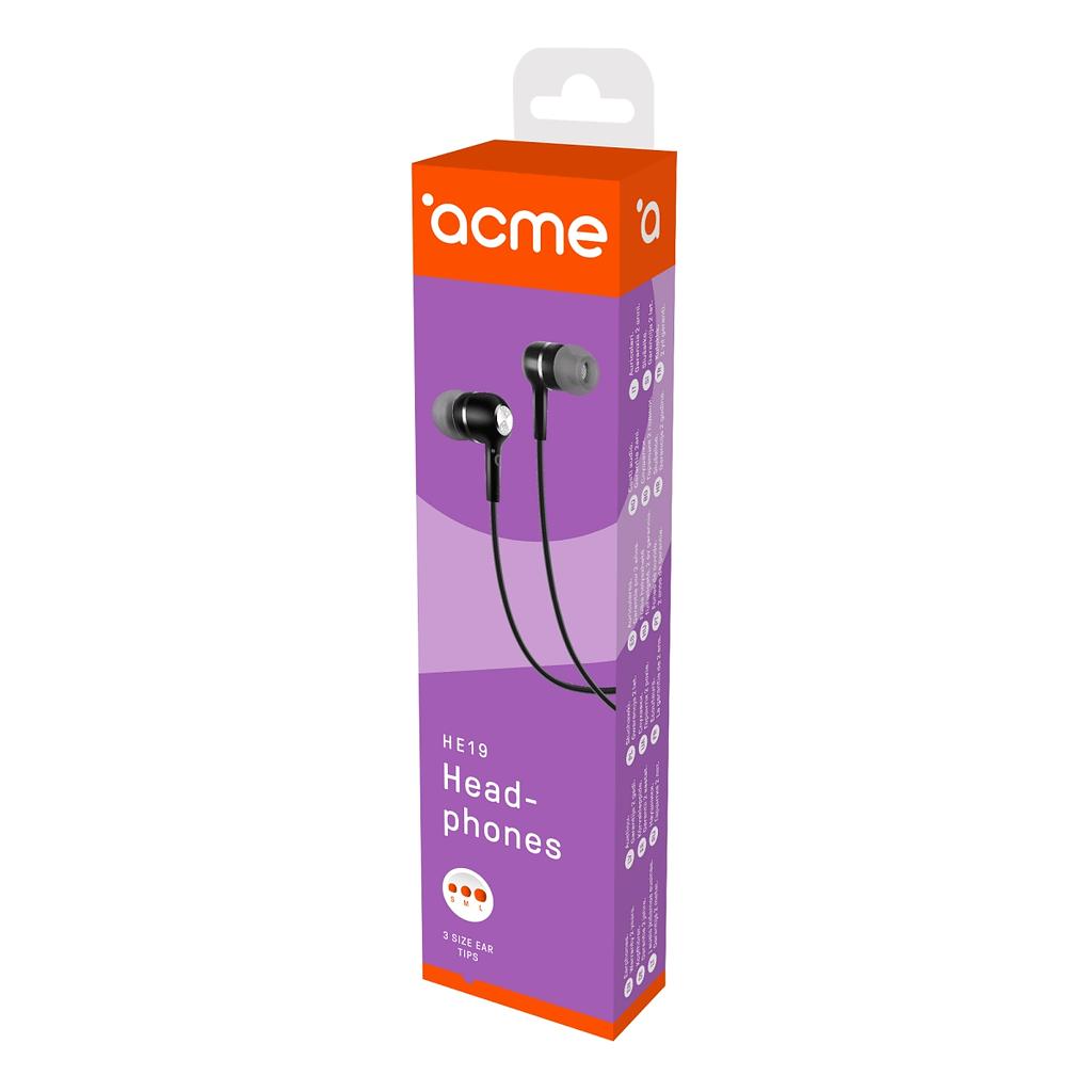 ACME Slušalice/bubice HE19. Boja: crna