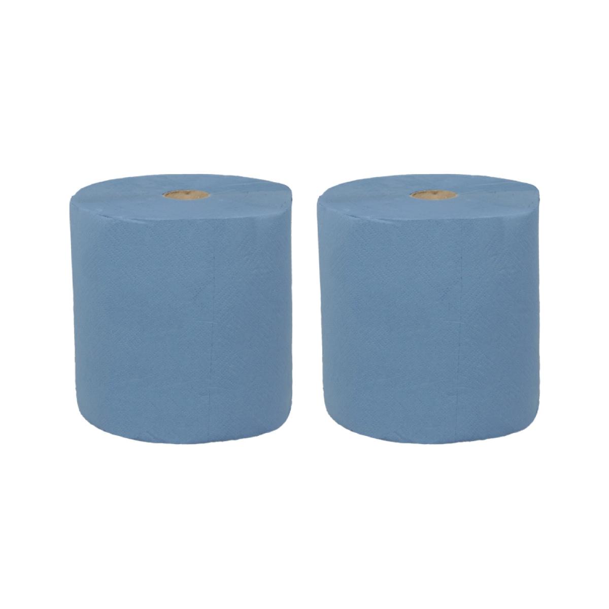 TTC Papirna rolna za čišćenje, plava, 100% celuloza, dužina: 240m. Pakovanje: 2 rolne. EU Ecolabel sertifikat