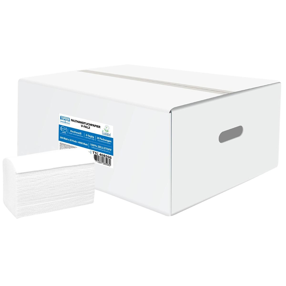 TTC Ubrus u listićima cik-cak, 24.3x22cm, 100% celuloza, 20×200. EU Ecolabel sertifikat